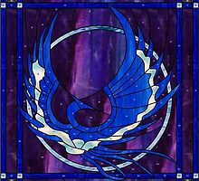 "Phoenix [in blue] approx 28"" x28"" by don quackenbush"