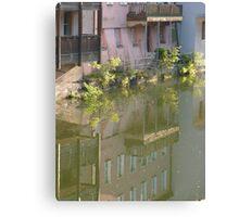 reflex in river Pegnitz Canvas Print