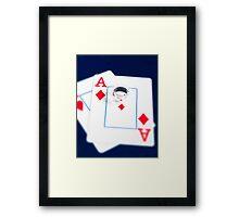 Poker Faces Framed Print