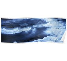 Blue river in winter Poster