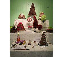Chocolate Wedding Cakes. Photographic Print