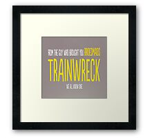 Trainwreck with Amy Schumer Framed Print