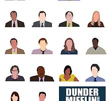 Dunder Mifflin Employee Headshots by tlamey