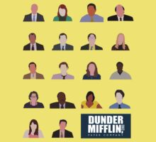 Dunder Mifflin Employee Headshots Kids Tee