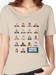 Dunder Mifflin Employee Headshots Women's Relaxed Fit T-Shirt
