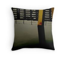 and we spent the night hearing the dock sway Throw Pillow