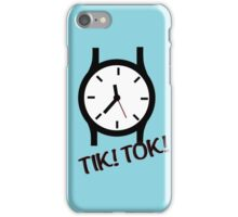 Time is precious iPhone Case/Skin
