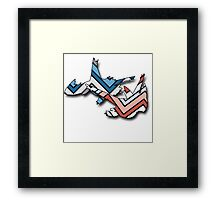 Chevron Latias and Latios  Framed Print