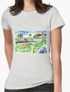 Rural Landscape Womens Fitted T-Shirt