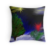 A light in the trees Throw Pillow