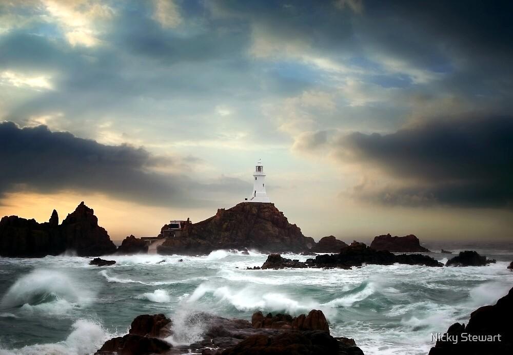 Corbiere Lighthouse, Jersey, Channel Islands by Nicky Stewart
