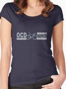 Cycling geek funny nerd Women's Fitted Scoop T-Shirt