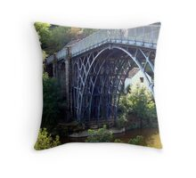 The Ironbridge at Coalbrookdale Throw Pillow