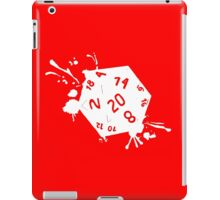 D20 splatter white out geek funny nerd iPad Case/Skin