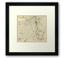 World War II Twelfth Army Group Situation Map October 16 1944 Framed Print