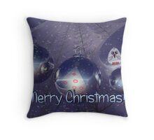 A snowy Merry Christmas II Throw Pillow