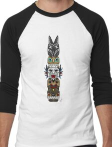 Colourful and Playful Totem Pole Men's Baseball ¾ T-Shirt