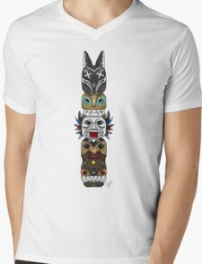 Colourful and Playful Totem Pole Mens V-Neck T-Shirt