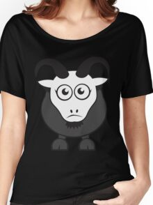 Grover The Goat in Grey Women's Relaxed Fit T-Shirt