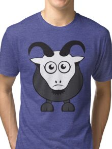 Grover The Goat in Grey Tri-blend T-Shirt