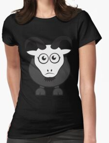Grover The Goat in Grey Womens Fitted T-Shirt