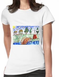 Rural Landscape 5 Womens Fitted T-Shirt