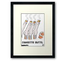 Cigarette Butts. Framed Print