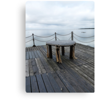Table on the pier Canvas Print