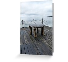 Table on the pier Greeting Card