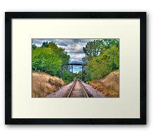 Under The Old Bridge Framed Print