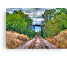 Under The Old Bridge Canvas Print