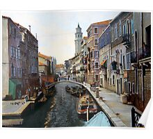Canal Scene Poster