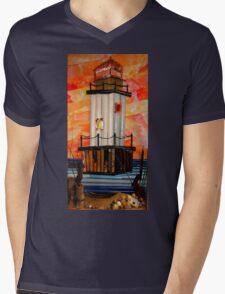 Light House Mens V-Neck T-Shirt