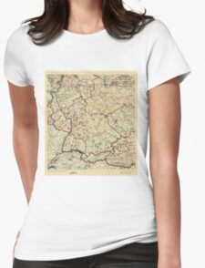 World War II Twelfth Army Group Situation Map July 26 1945 Womens Fitted T-Shirt