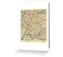 World War II Twelfth Army Group Situation Map July 26 1945 Greeting Card