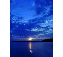 blue zen Photographic Print