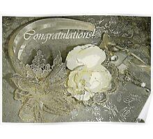 Congratulations Wedding card Poster