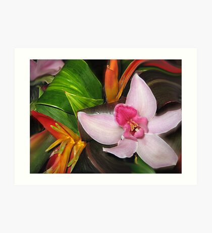 Smudged Tropicals Art Print
