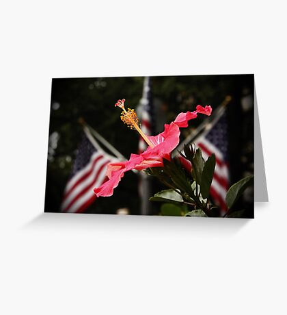 Hibiscus for the Fallen Greeting Card