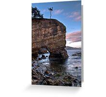 Fossil Cove, Tasmania Greeting Card