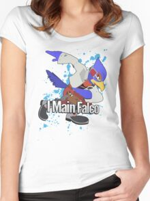 I Main Falco - Super Smash Bros. Women's Fitted Scoop T-Shirt