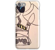Minimalist wall e and eve iPhone Case/Skin