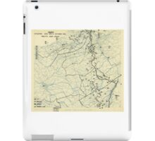 World War II Twelfth Army Group Situation Map October 4 1944 iPad Case/Skin