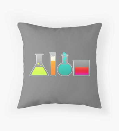 Beakers Throw Pillow