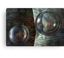 Never Underestimate The Power Of Dancing Spheres Canvas Print