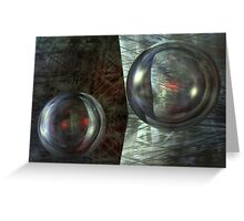 Never Underestimate The Power Of Dancing Spheres Greeting Card