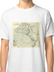World War II Twelfth Army Group Situation Map January 13 1945 Classic T-Shirt