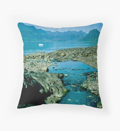 The Cuillins from Elgol Throw Pillow