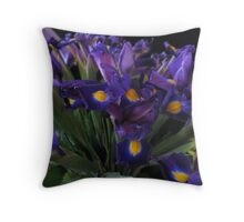 The richness of Iris Throw Pillow