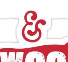 Arkansas Razorbacks Red, White & Woo Sticker